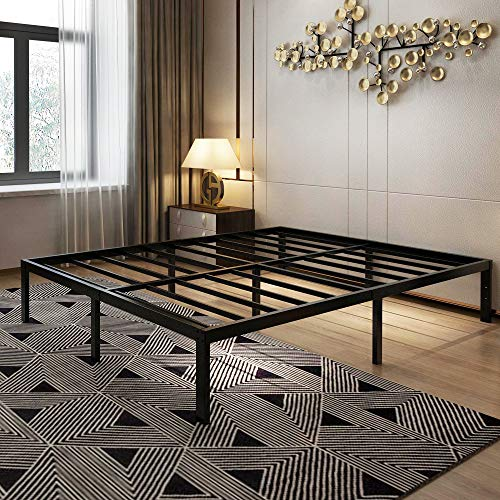 45MinST 14 Inch Platform Bed Frame/Easy Assembly Mattress Foundation / 3000lbs Heavy Duty Steel Slat/Noise Free/No Box Spring Needed, Full