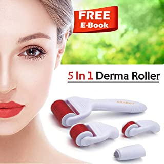 Derma Roller Cosmetic Needling Instrument Face Body | Micro Needle .25mm + | Includes Free Storage Case 5 in 1 kit | Soft Glow