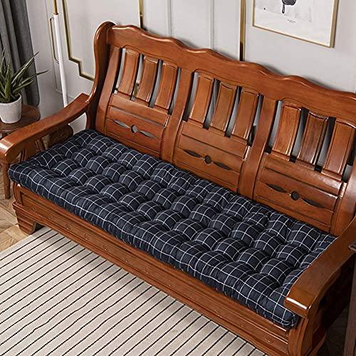 Cojín suave para banco de jardín, cojín de asiento para exteriores e interiores, cojín para silla oscilante, cómoda alfombrilla para silla de 2 a 3 plazas de metal o banco de madera
