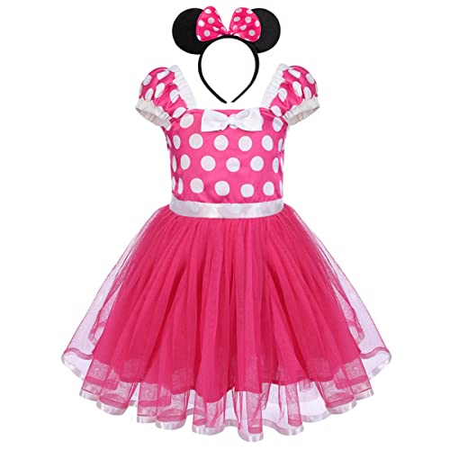 7687e575b35 Toddler Girls Polka Dots Princess Party Fancy Costumes Wedding Christening  Birthday Flower Tutu Dress up Baby