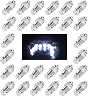 Jofan 24pcs Cool White Mini Lights Paper Lantern Lights LED Balloon Lights for Floral Party Wedding Decoration (Waterproof and Submersible)