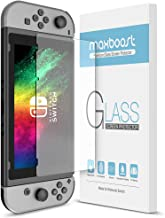 Maxboost Nintendo Switch Screen Protector Tempered Glass, [2 Pack] Works While Docking Nintendo Switch 2017 HD Ultra-Thin Enhanced Glass Screen Protector for Nintendo Switch Gaming Console