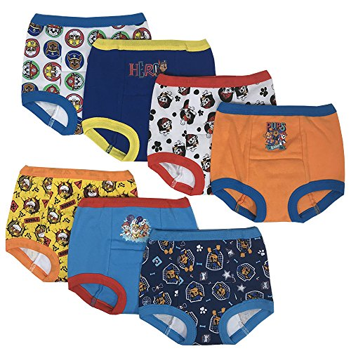 Nickelodeon Boys' Toddler 7pk Potty Training Pant, Paw Patrol Assorted, 3T