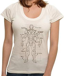 Camiseta Homem de Ferro Projeto - Feminina