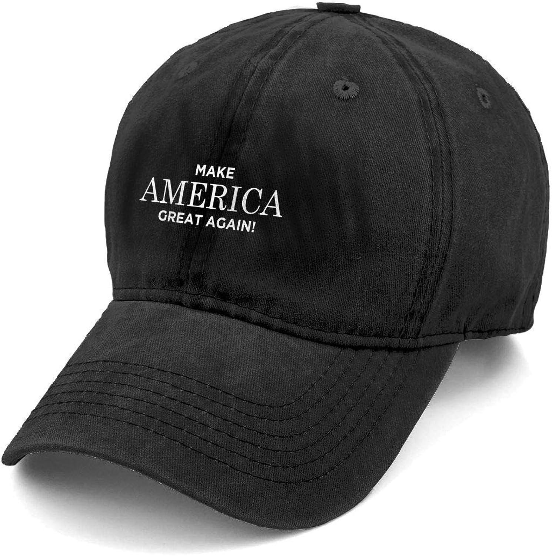 Sghyygcjs Fashion Casual Unisex Make America Great Again Adjustable Baseball Cap Adult Denim Hat