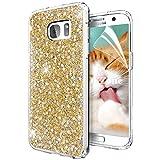 OKZone Funda Samsung Galaxy S7 Carcasa Purpurina, Cárcasa Brilla Glitter Brillante TPU Silicona Teléfono Smartphone Funda Móvil Case [Protección a Pantalla y Cámara] para Samsung Galaxy S7 (Oro)