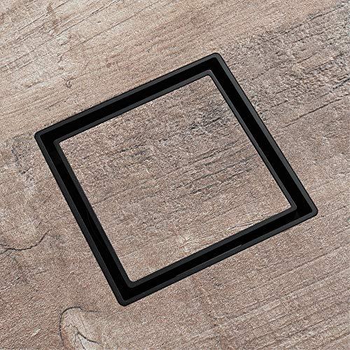 PIJN Bodenablauf Schwarz Versteckt Gerade Quadratisch Kupfer Row Großer Flussbodenablauf (Color : Metallic, Size : 115x115x47mm)