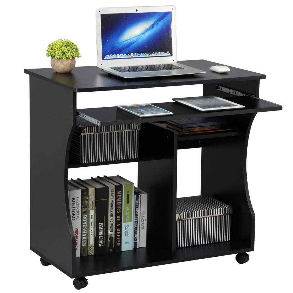 - Yaheetech Movable Computer Desk Table Study Workstation With