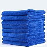 Sheen Microfiber Vehicle washing Cloth || Vehicle washing cloth || GSM 270 || Size 30X40 || Microfiber Cleaning Cloth (8, Blue)