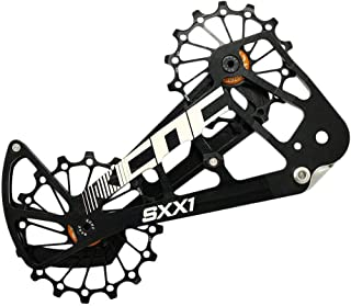 KCNC SXX1 MTB Bicycle Oversized Pulley Wheel Cage OSPW for SRAM Eagle, Black, SK1956