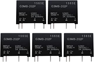 Aideepen 5pcs G3MB-202P DC-AC PCB SSR in 5V DC Out 240V AC 2A Solid State Relay Module