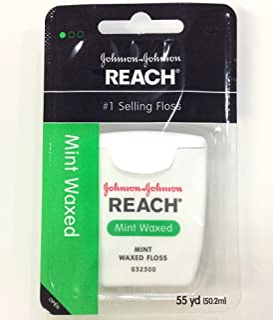 Johnson&Johnson Reach Mint Waxed Dental Floss 55 Yd (Pack of 2)