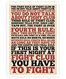 LAB NO 4 The Rules of Fight Club Movie Poster in A3 Size