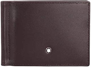 Montblanc Men's Meisterstuck 6 Cc With Money Clip Leather Wallet