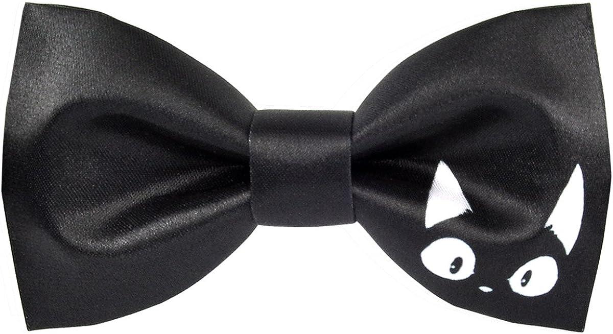 100% Satin Silk Mens Pre-tied Bowtie Solid Bow Ties-Animal Series
