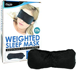 Weighted Eye Mask Travel Meditation Relaxation Black Sleep Cover Eye Patch