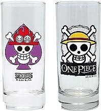 One Piece glazen set van 2 - Ace Logo - Skull Luff...