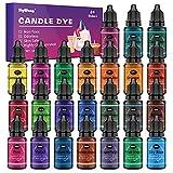 Tinte para velas - Tinte de Vela Líquido a Base de Aceite de 24 Colores, it Colorante de Cera para Velas Concentrado para Cera de Soja, Cera de Abejas, Cera de Gel, Cera de Parafina