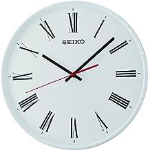 ساعة حائط بعقارب كوايت سويب من سيكو لون ابيض - Qxa701wls