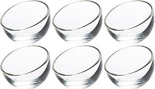 アデリア ガラス ボウル クリア 最大7.7×高5.7cm ラ・ロシェール 6個セット フランス製 H-3994