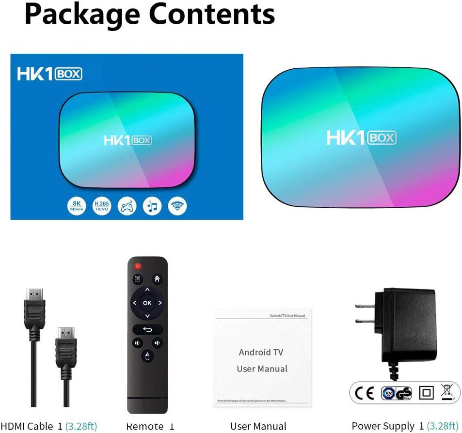 Sofobod HK1 Box Smart TV Box Android 9.0, 4GB RAM 128GB ROM, S905X3 Quad Core 64bit Cortex-A55, GPU G31 MP2, 2.4G/5G Dual WiFi BT4.0 H.265 Decoding LAN 1000 RJ-45, HD 8K