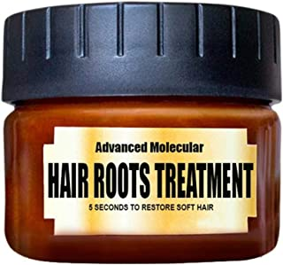 ALLCOME Hair Masks Hair Detoxifying Advanced Molecular Hair Roots Treatmen Recover Elasticity Hair for Dry or Damaged Hair -60ML (Brown)