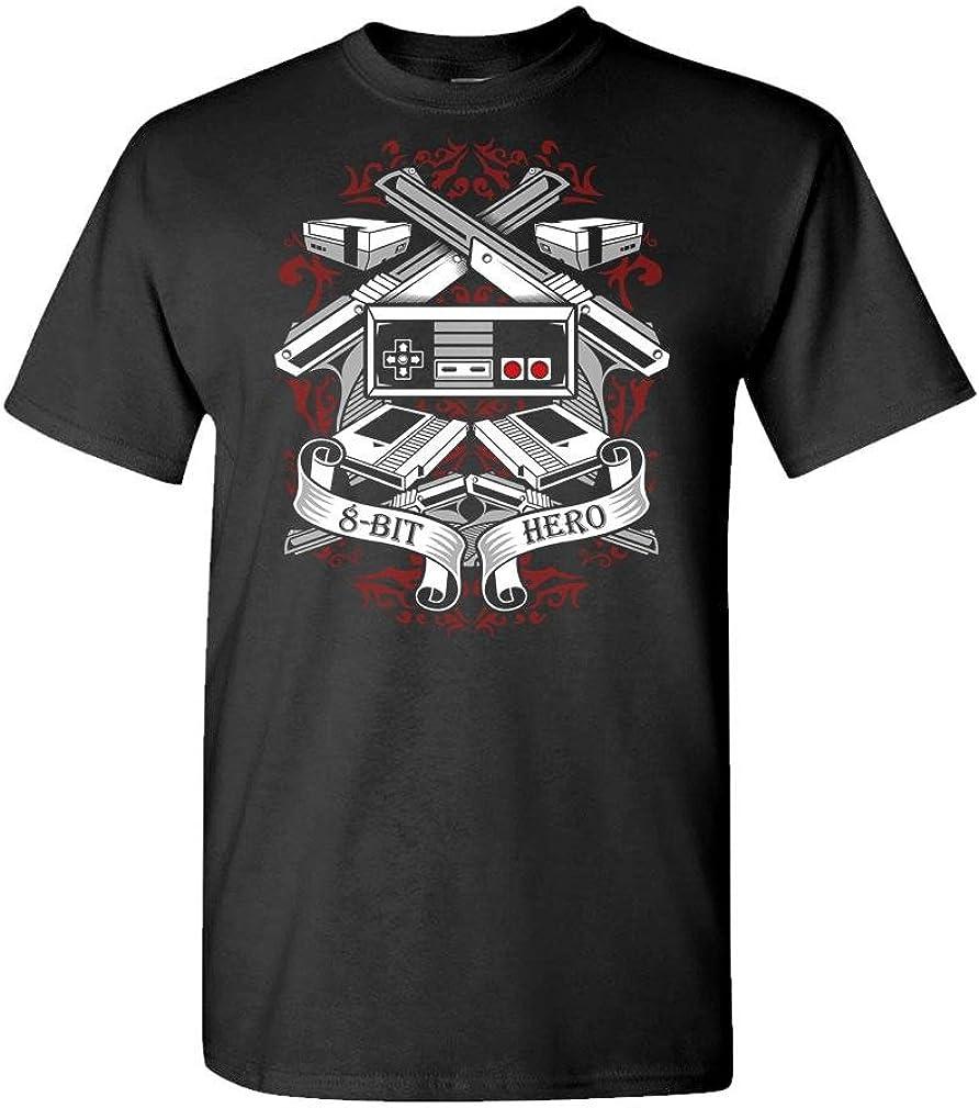 8-BIT Hero - Video Game Console Retro 80's - Mens Cotton T-Shirt