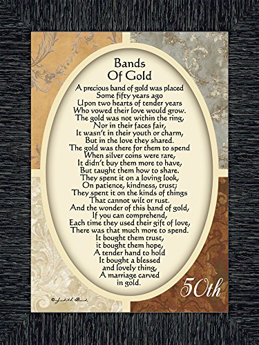 Vintage Bands of Gold, Poem Celebrating a Couples 50th Anniversary, 7x9 77979CH