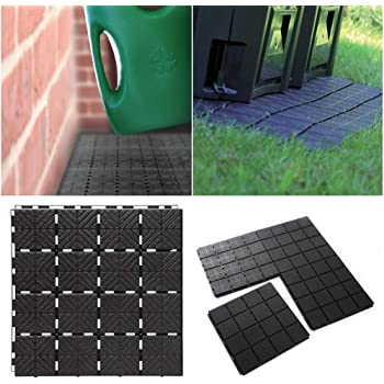 rg-vertrieb - Baldosas de jardín o terraza, 40 x 40 x 2 cm, Superficie de 1,5 m2, para Balcones: Amazon.es: Jardín