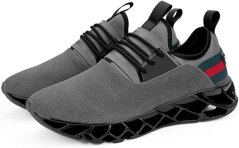 Qiusa Mens Large Größe Laufschuhe weiche Sohle Komfort atmungsaktiv Durable Schuhe (Farbe   Grau, Gre   EU 41)