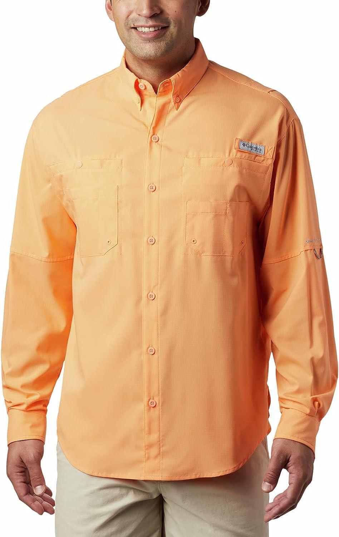 Columbia Men's Big and Tall PFG Tamiami Sleeve Max 71% OFF UPF 40 San Jose Mall Long II Fi