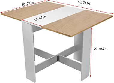 Folding Dining Table, Drop Leaf Extendable Versatile Table Space Saving, Expandable Kitchen Table,Leaf Dining Table Desk Boar