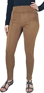 Pull-On Faux Suede High Rise Leggings