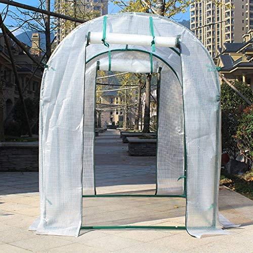 XY&CF-Flower house Serre végétale PE Peinture Tout Acier Squelette Double Porte Jardin de la Serre (200 * 200 * 200cm) (Couleur : A)
