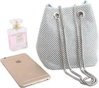 Diamond-Studded Rhinestone Super Flash Evening Bag High-End Banquet Bucket Bag Clutch Bag