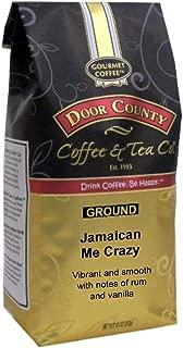 Door County Coffee, Jamaican Me Crazy, Rum & Vanilla Flavored Coffee, Medium Roast, Ground Coffee, 10 oz Bag