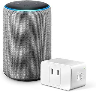 Echo Plus (エコープラス) 第2世代 - スマートスピーカー with Alexa、ヘザーグレー + Meross WiFi スマートプラグ MSS110JP