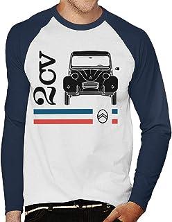 Citro/ën Black 2CV Racing Stripes Mens T-Shirt