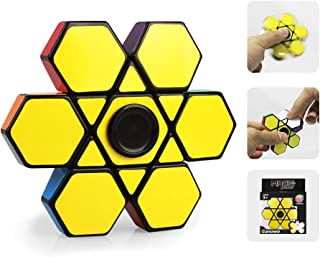 Ganowo Fidget Spinner Cube 1x3x3, Sensory Toy Magic Puzzle Cool Mini Gadget for Kids Adults Party Favors, Anxiety Relief and Kill Time (1 Fidget Spinner Cube)