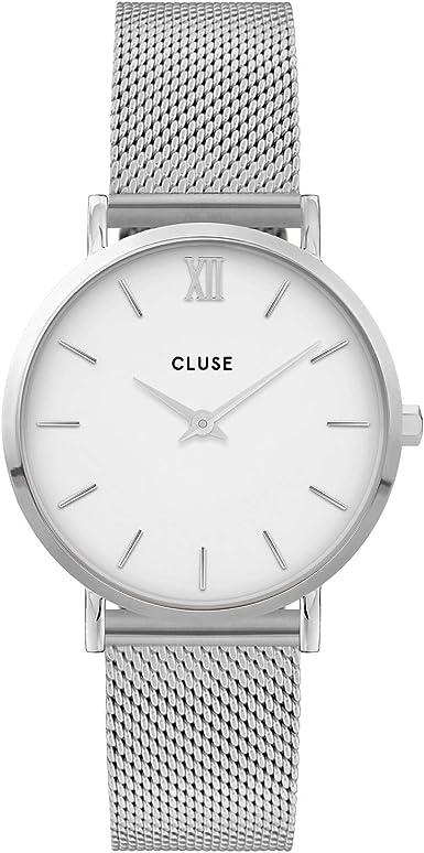 CLUSE Reloj Analógico para Mujer de Cuarzo con Correa en Acero Inoxidable CW0101203002
