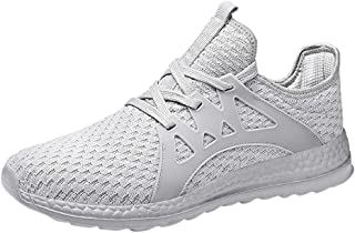 Qootent Women Men Sports Shoes Couple Mesh Breathable Shoes Running Sneakers