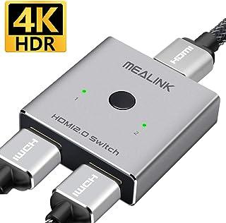 【アップグレード版】HDMI切替器 HDMI分配器 双方向 hdmiセレクター 4K/3D/1080p HDMI 2.0 HDR 2入力1出力/1入力2出力 手動切替 電源不要 Apple TV/Chromecast Stick/液晶テレビ/HDTV/Xbox/PS3/PS4/Nintendo Switch など対応