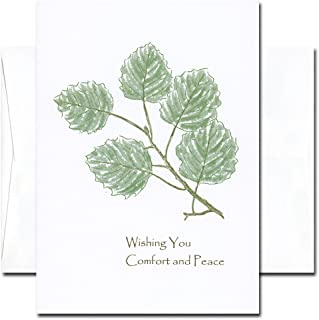 Sympathy Cards: Comfort - box of 10 cards & env Made in USA by CroninCards