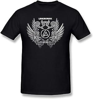 Duanfu Linkin Park Art Logo DIY Men's Comfort Cool Crewneck Cotton Short Sleeve T-Shirt