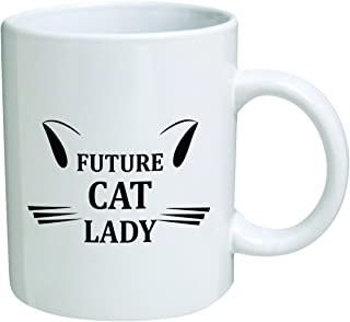 Funny Mug 11OZ - Future cat lady - Inspirational novelty and gift, cool Birthday gift for coworkers, Women, Her, Mom, Sister - Valentine's Day Present Idea for Girlfriend or Wife by Yates and Franco