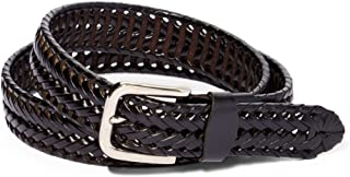 Men's Braided Leather Dress Belt-Assorted Colors