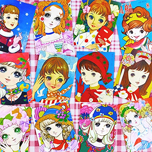 ZIWEI Japón Showa Nostálgico Mano Cuenta Etiqueta Etiqueta Retro Chica Teléfono Móvil Portátil Impermeable Maleta Etiqueta