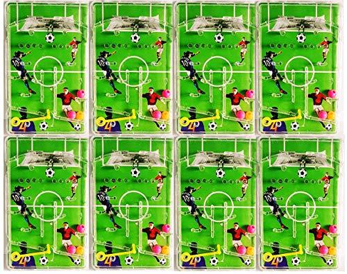 KSS 8 x Geschicklichkeitsspiel Fußball Kugelspiel Labyrinth Flipper Kindergeburtstag Mitbringsel Mitgebsel der Klassiker