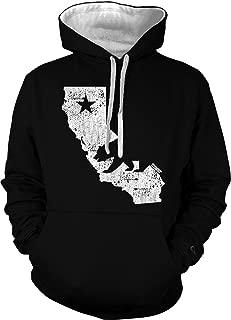 California State Map - Cali Bear Unisex Hoodie Sweatshirt