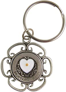 4-1//2-Inch Cathedral Art KR314 With God Key Ring Bling